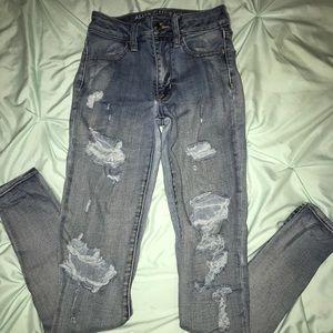 AE high rise skinny jeans